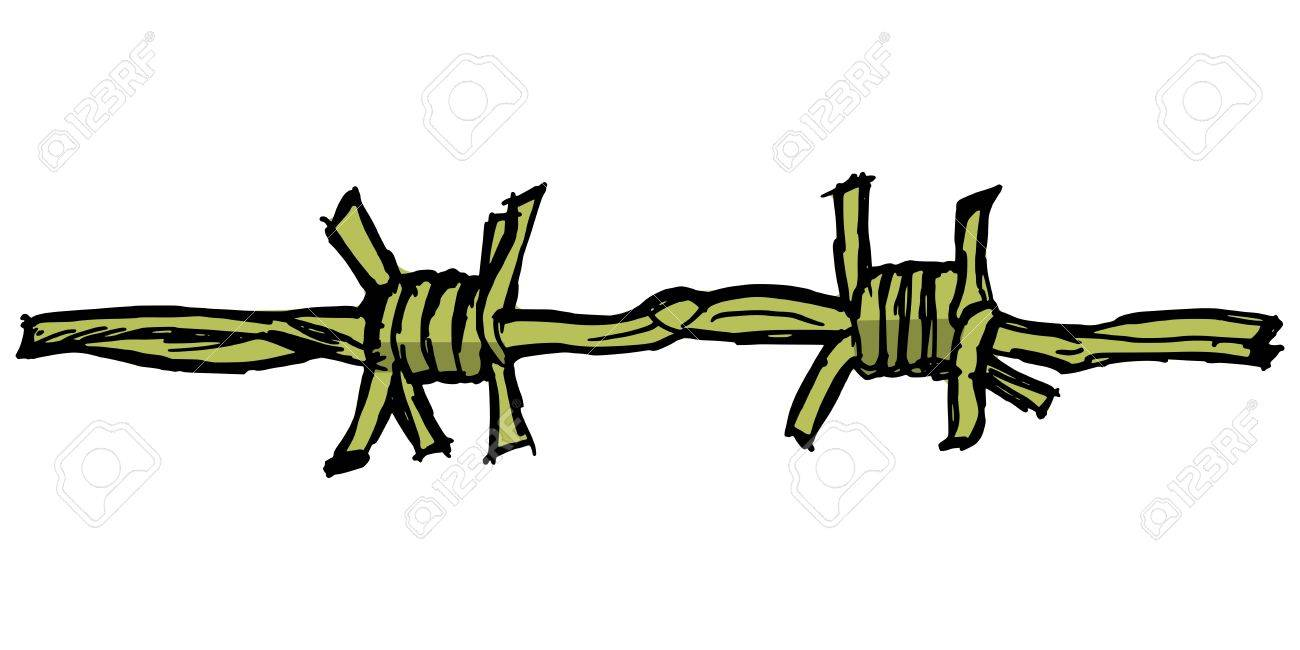 Illustration of barbed wire on white background Stock Vector - 16294669