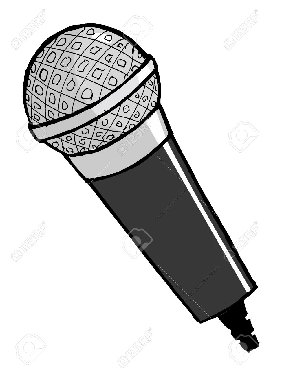 hand drawn cartoon vector illustration of microphone royalty free rh 123rf com cartoon mic cartoon microscope