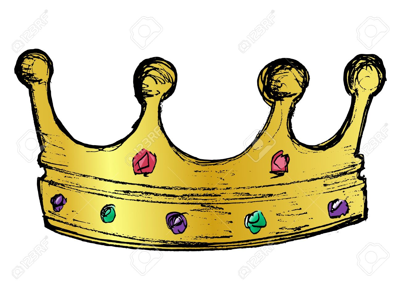 Hand Drawn Vector Sketch Illustration Of Crown Royalty Free Cliparts Vectors And Stock Illustration Image 17724225 Learn how to draw cartoon crown pictures using these outlines or print 3,929 cartoon royal. hand drawn vector sketch illustration of crown