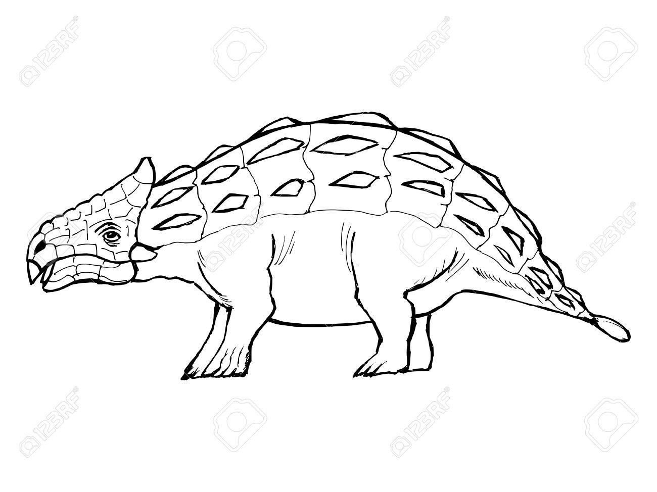 ankylosaurus coloring page youtuf com