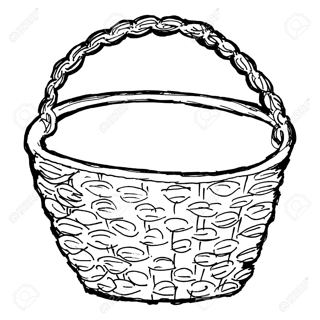 964 wicker picnic basket cliparts stock vector and royalty free