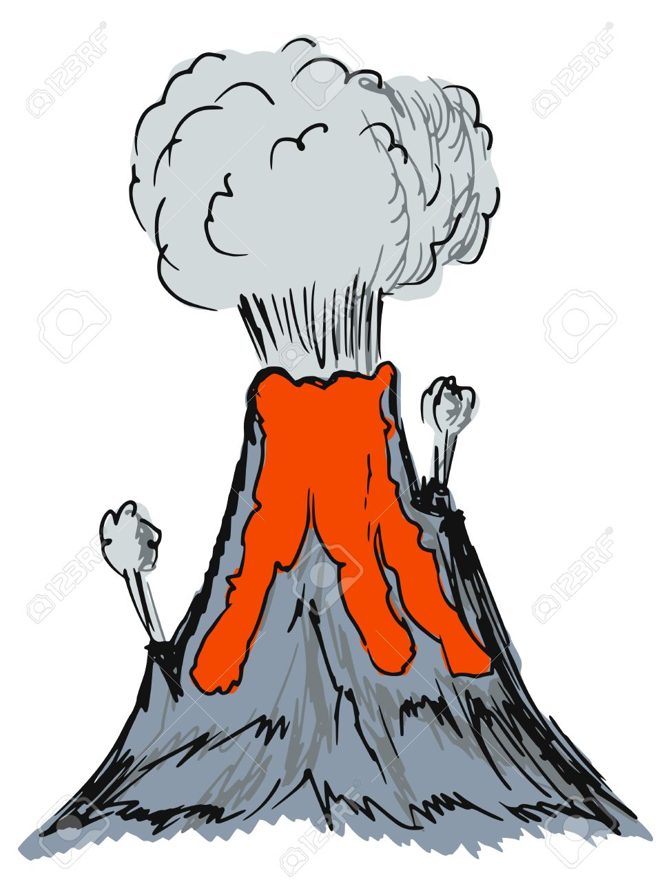 Hand drawn sketch cartoon illustration of volcano royalty free hand drawn sketch cartoon illustration of volcano stock vector 27347368 ccuart Images