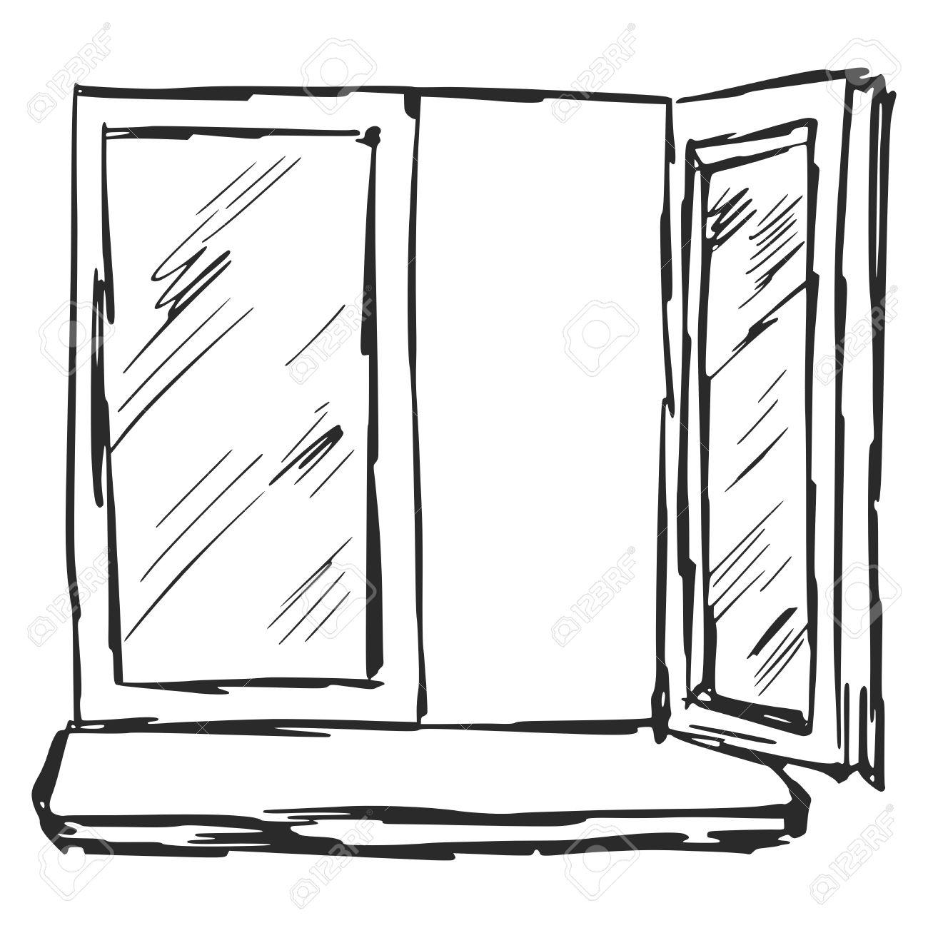 Hand drawn sketch cartoon illustration of window royalty free hand drawn sketch cartoon illustration of window stock vector 28433111 thecheapjerseys Gallery