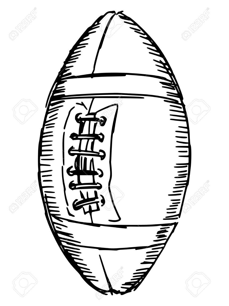 Sketch doodle hand drawn illustration of american football ball stock vector 30532221