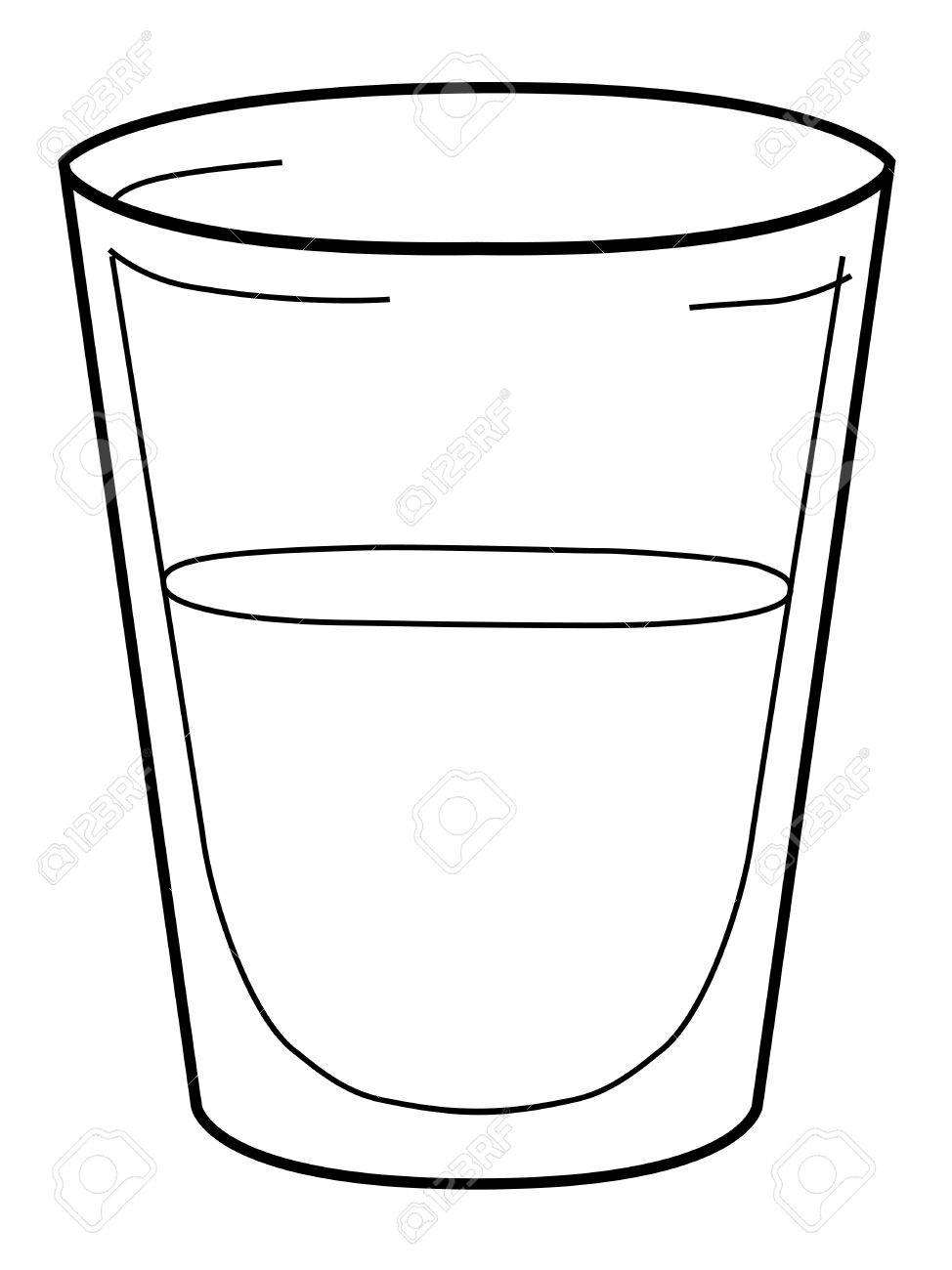 outline illustration of glass of water royalty free cliparts rh 123rf com glass of water clipart glass of iced water clipart
