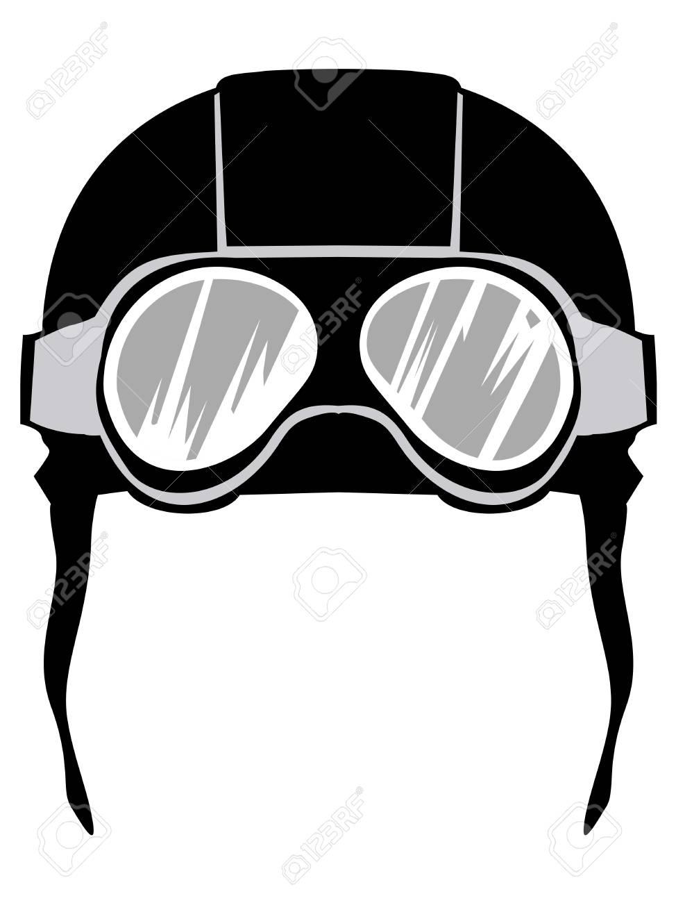 a17d04bd34 Silhouette of aviation helmet Stock Vector - 77696255