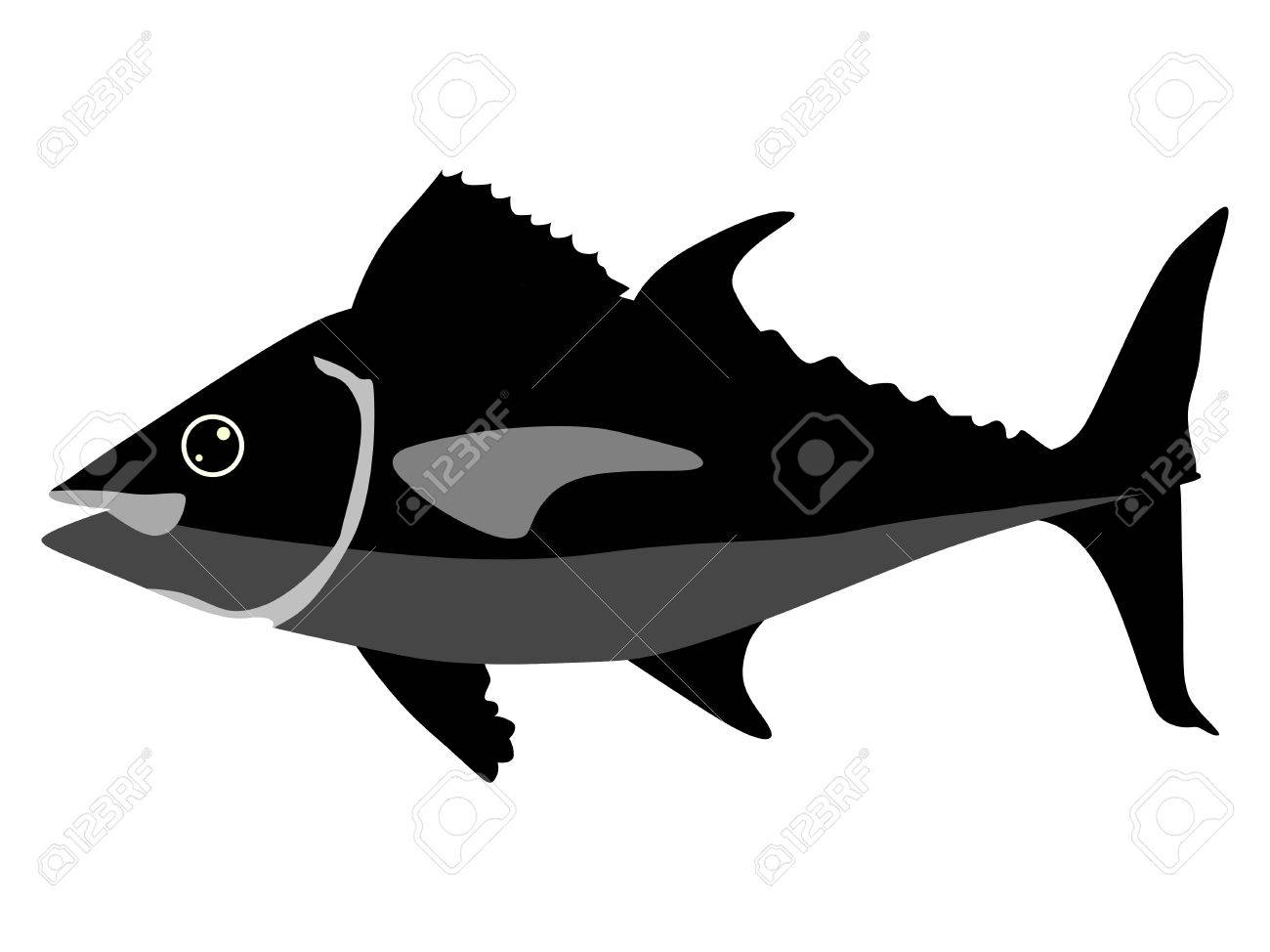 silhouette of tuna royalty free cliparts vectors and stock