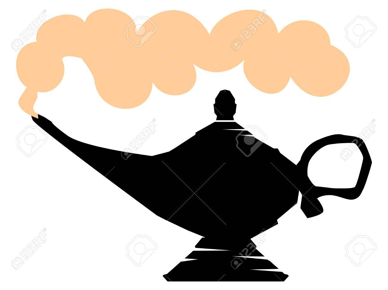 Silhouette Of Lamp Of Aladdin