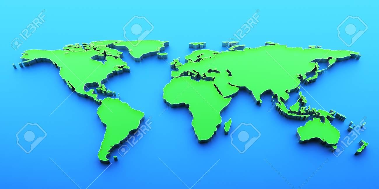3d render world map stock photo picture and royalty free image 3d render world map stock photo 13498991 gumiabroncs Images