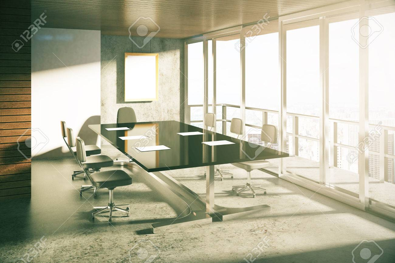 modern loft furniture. Modern Loft Style Conference Room With Furniture At Sunrise Stock Photo - 48354260 L