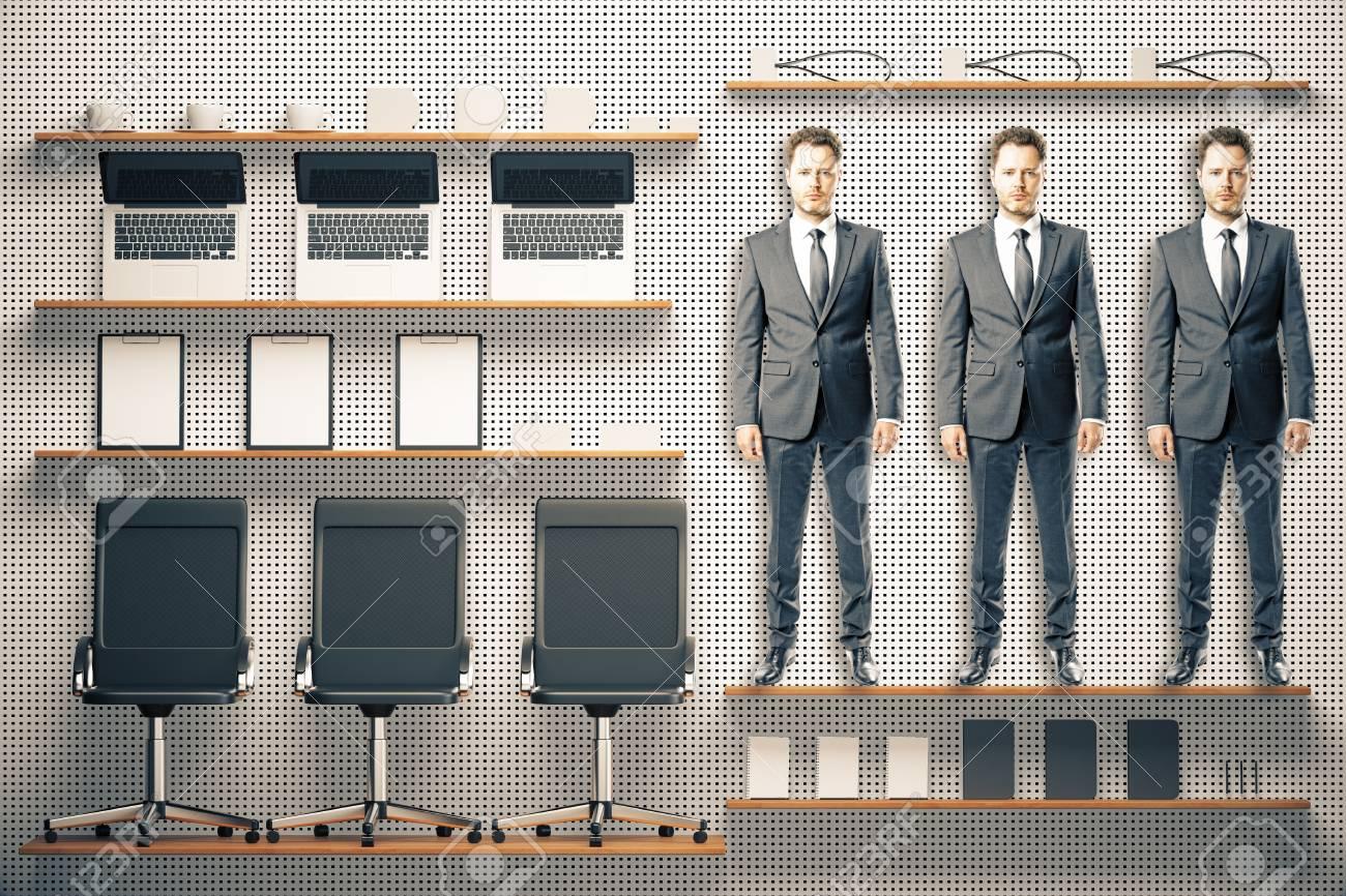 Bureau outils de trucs kit avec des meubles et étagères banque d