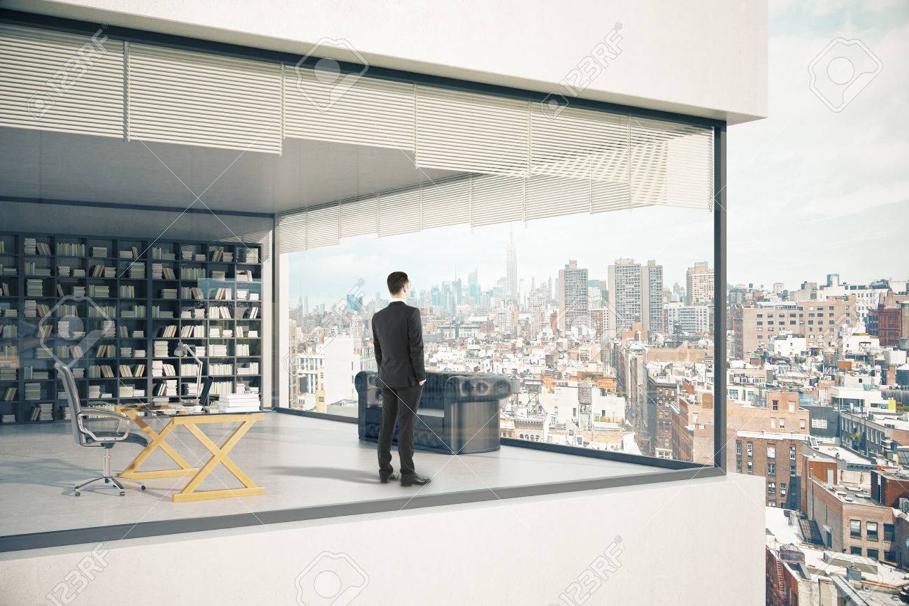 See Through Building Exterior With Panoramic Windows Thoughtful