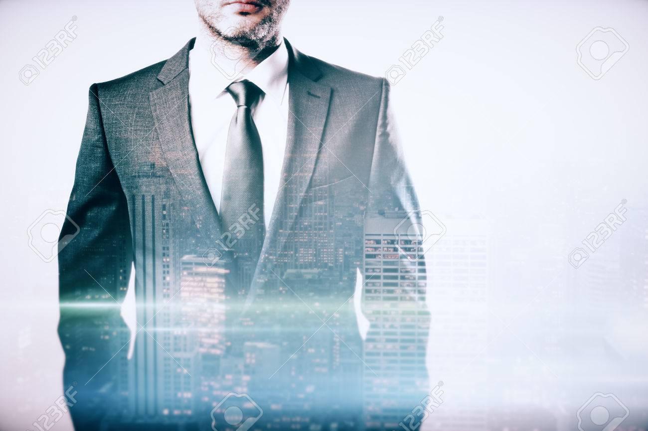 Corpo Giacca Del E Di Piano Uomo Primo Su In Cravatta D