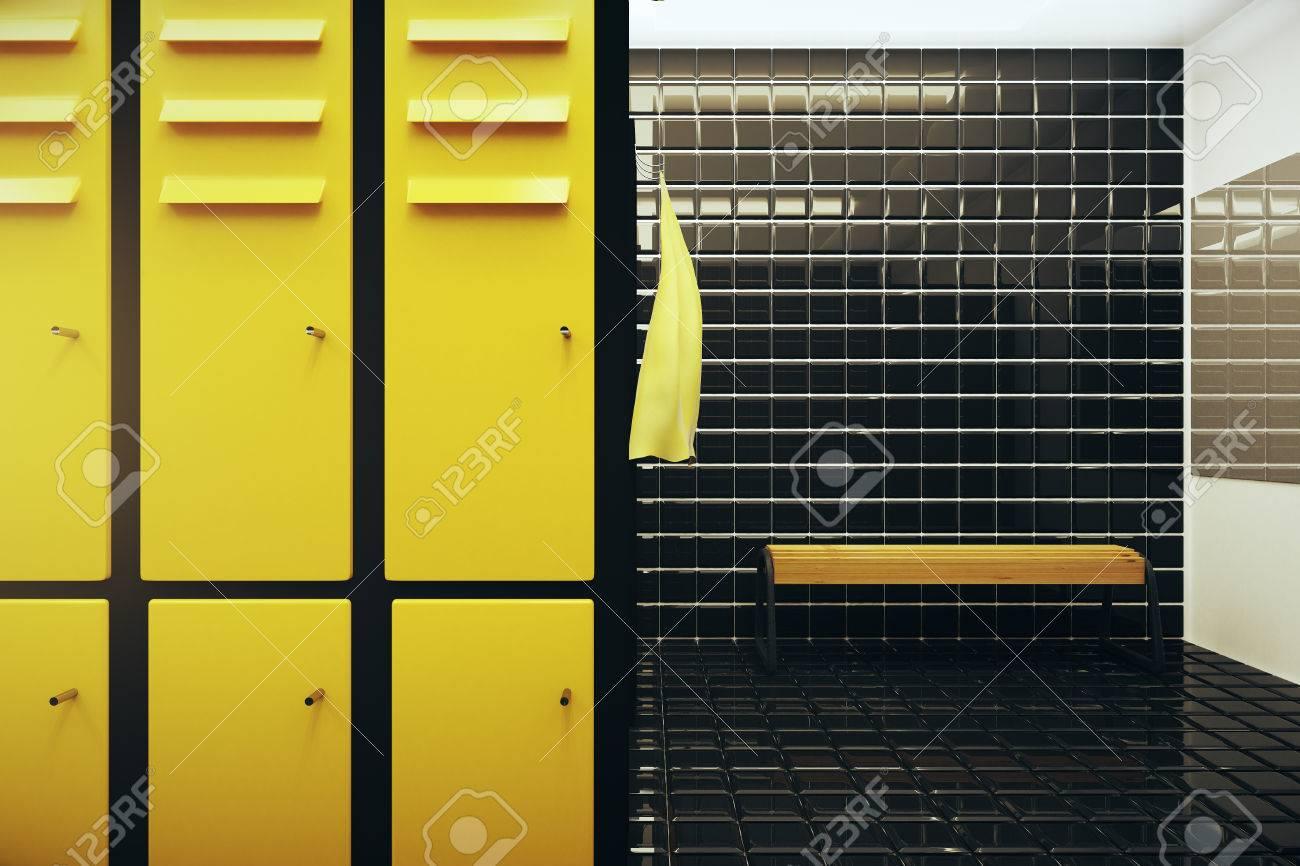 Bright gym locker room interior d rendering stock photo picture