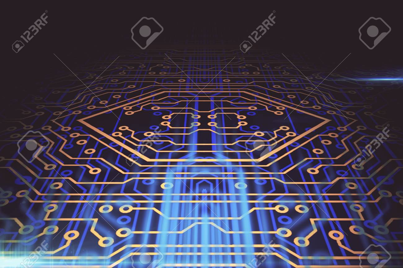 Abstract Circuit Board Background Software Concept 3d Rendering Stock Photo 87926413