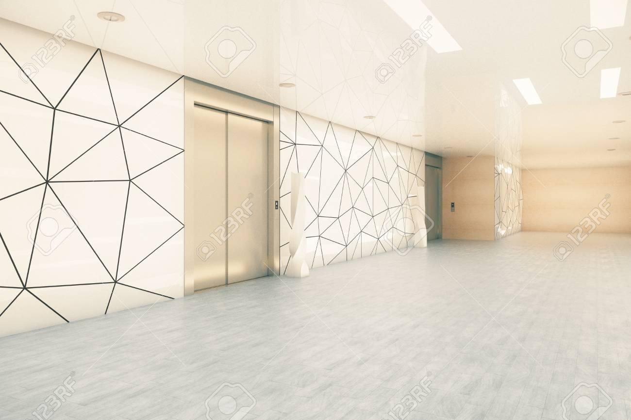 Vue latérale du couloir de bureaux d affaires moderne avec