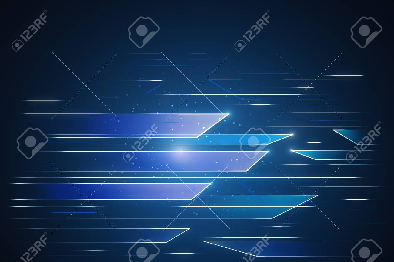 Abstract Glowing Tech Wallpaper Cyberspace And Innovation Concept