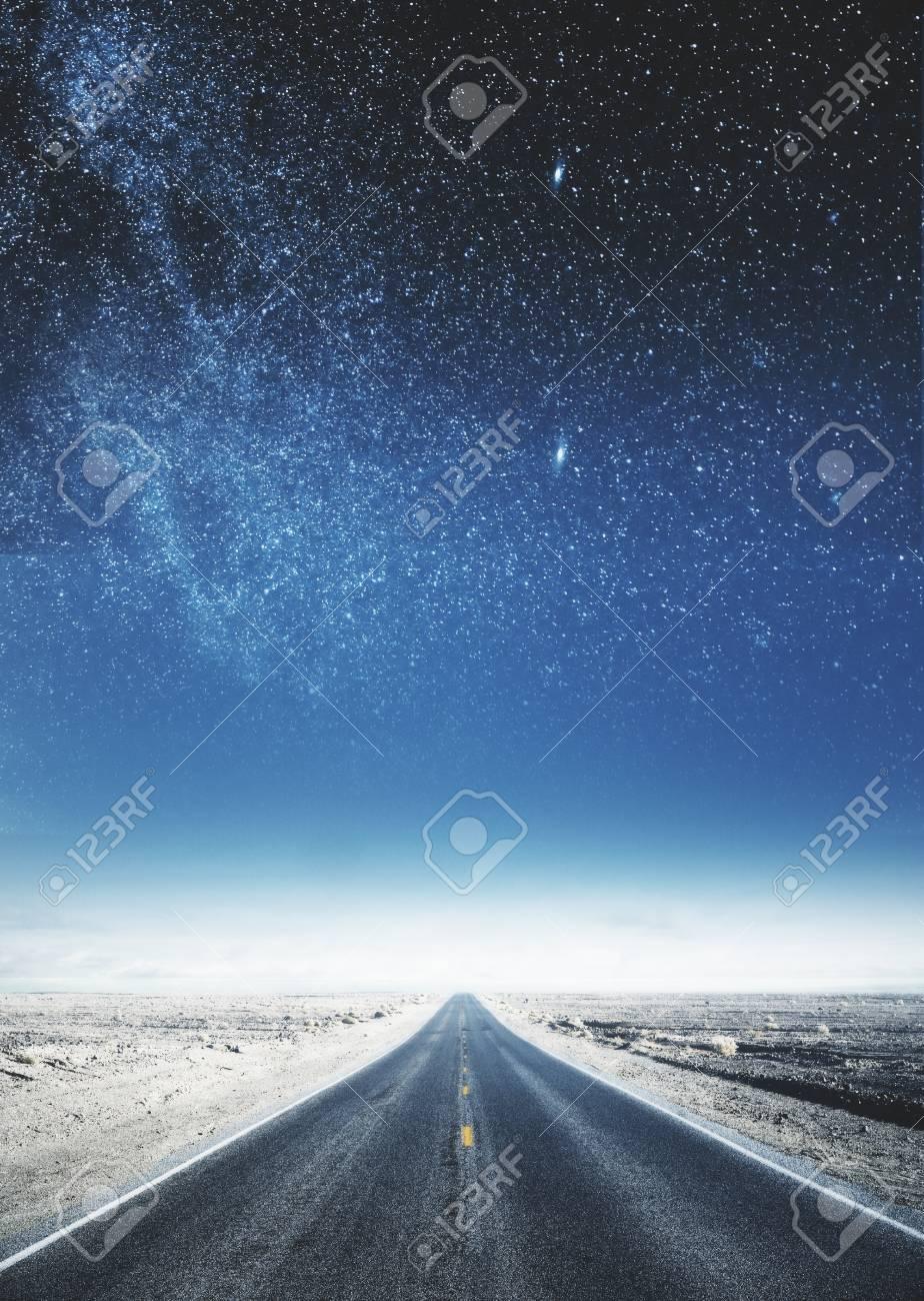 Creative Sky Road Backdrop Art And Wallpaper Concept