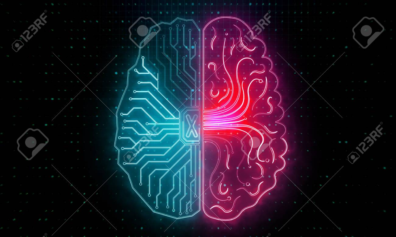 Abstract Circuit Brain Wallpaper Artificial Intelligence And