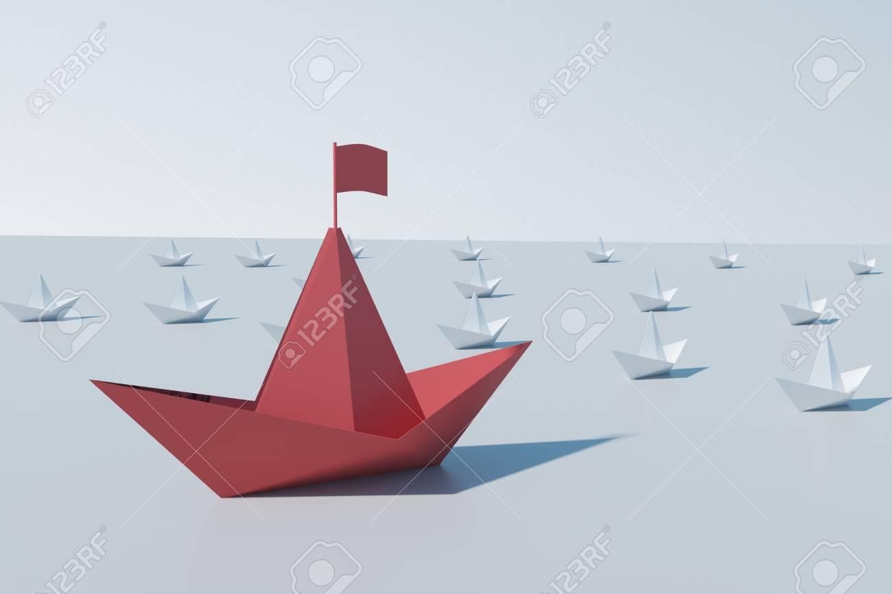 Paper origami ship handmade Royalty Free Vector Image | 866x1300