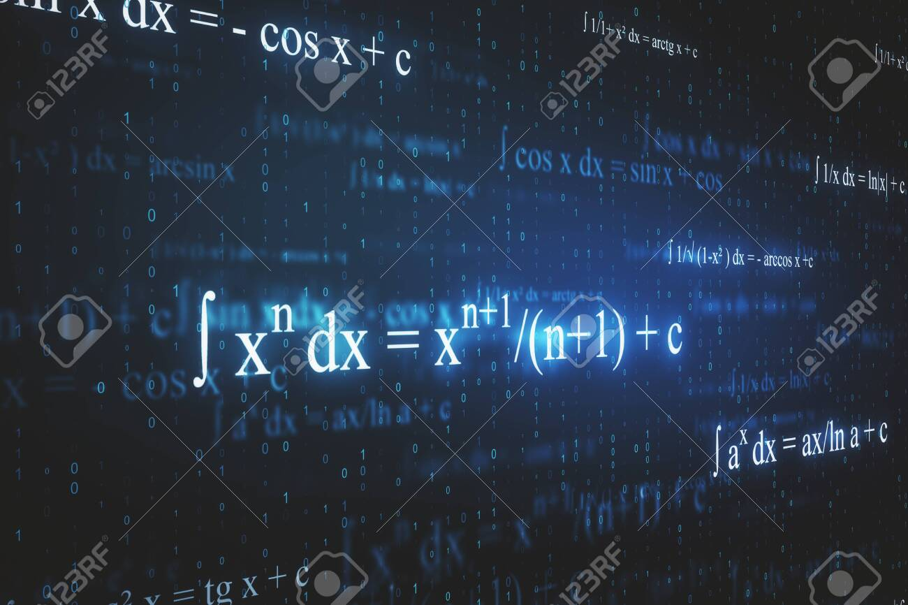 Creative Glowing Mathematical Formulas Wallpaper With Equations