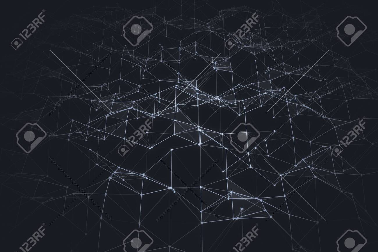 Abstract dark polygonal backdrop. Technology and design concept. 3D Rendering - 149237206