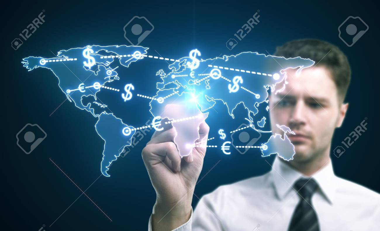world money traffic concept Stock Photo - 14435102