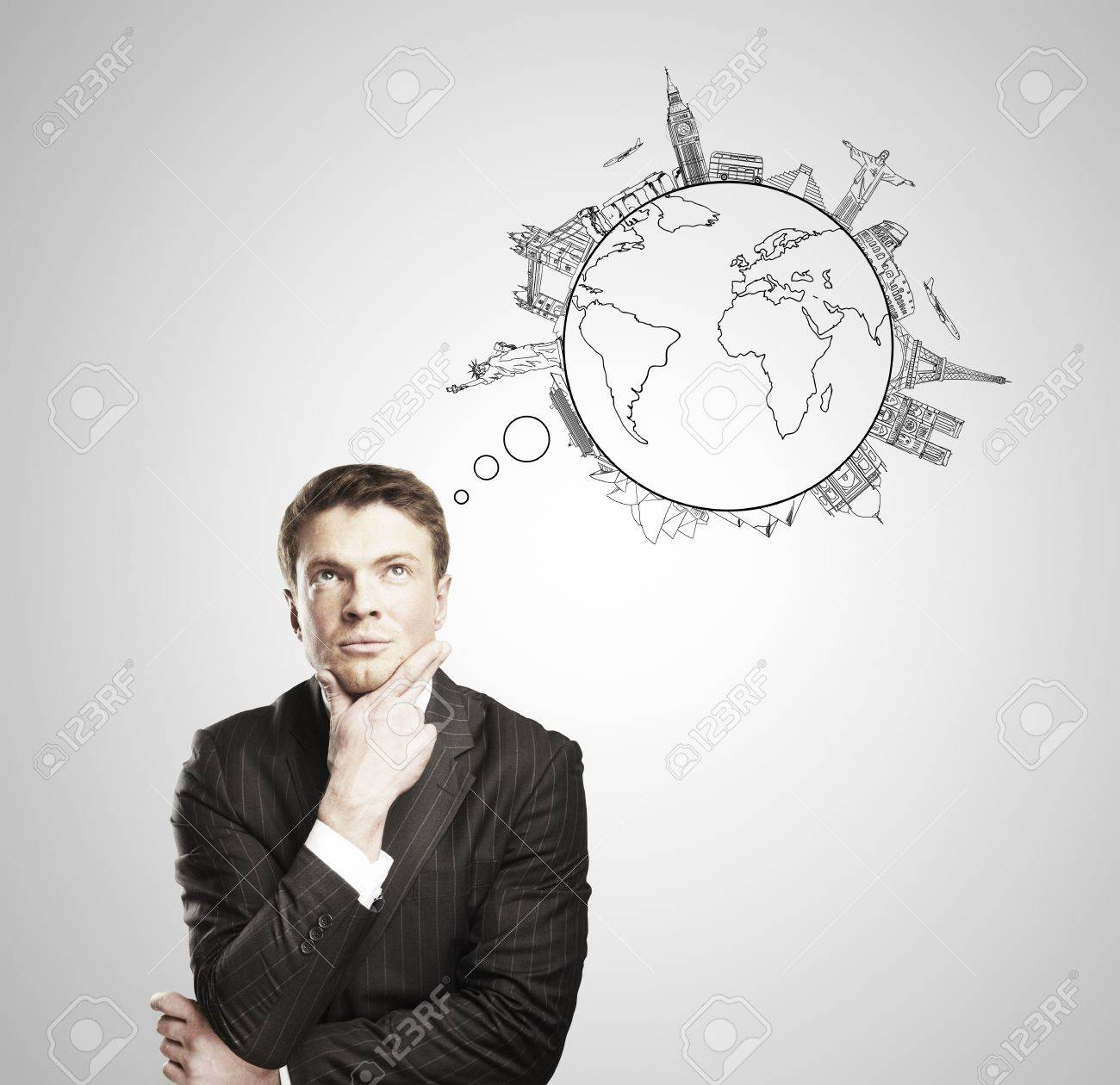 Young Image Travelling Dreaming Royalty Man Stock Image Photo Pensive And Free 14625959 Picture