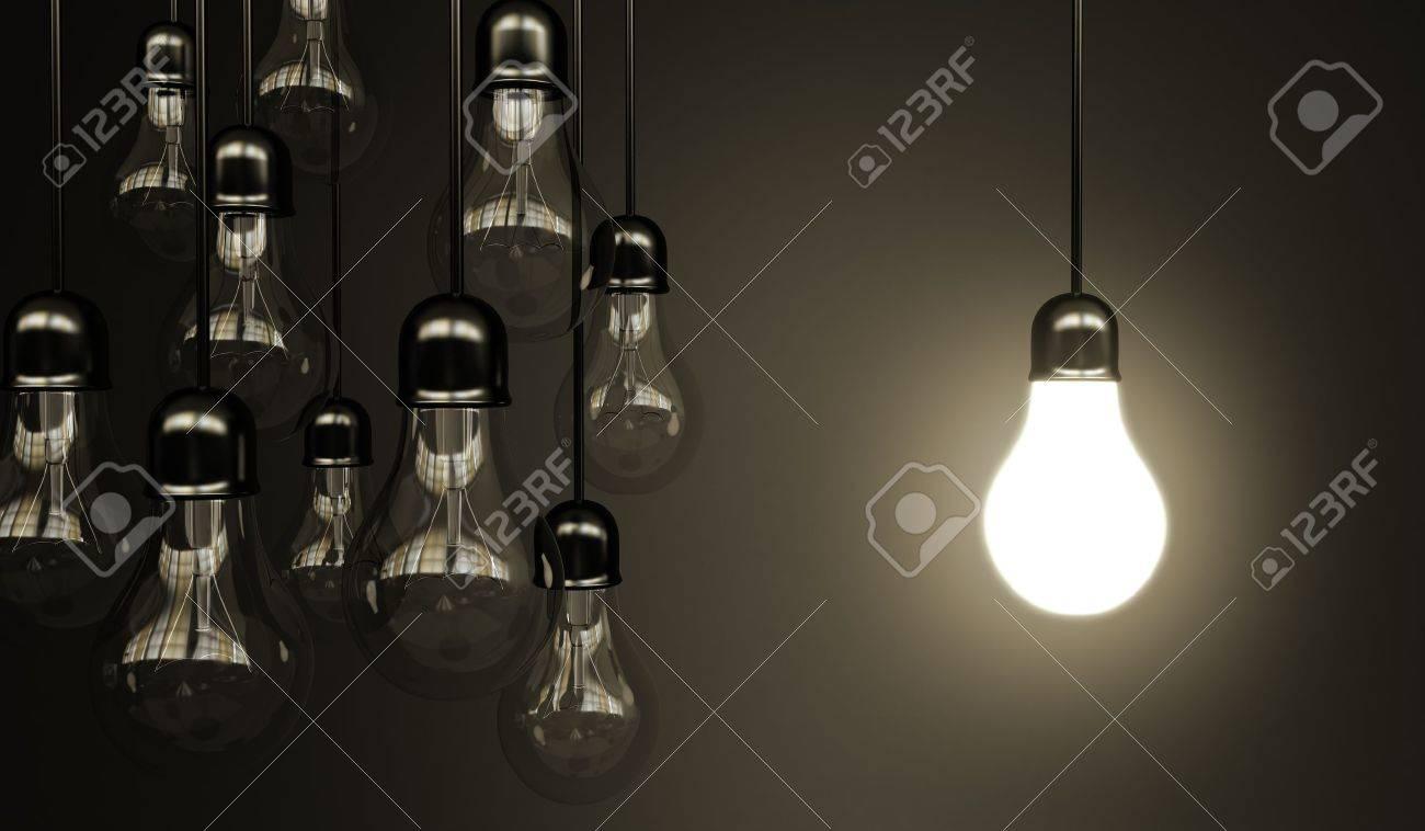 idea concept with light bulbs Stock Photo - 14641563
