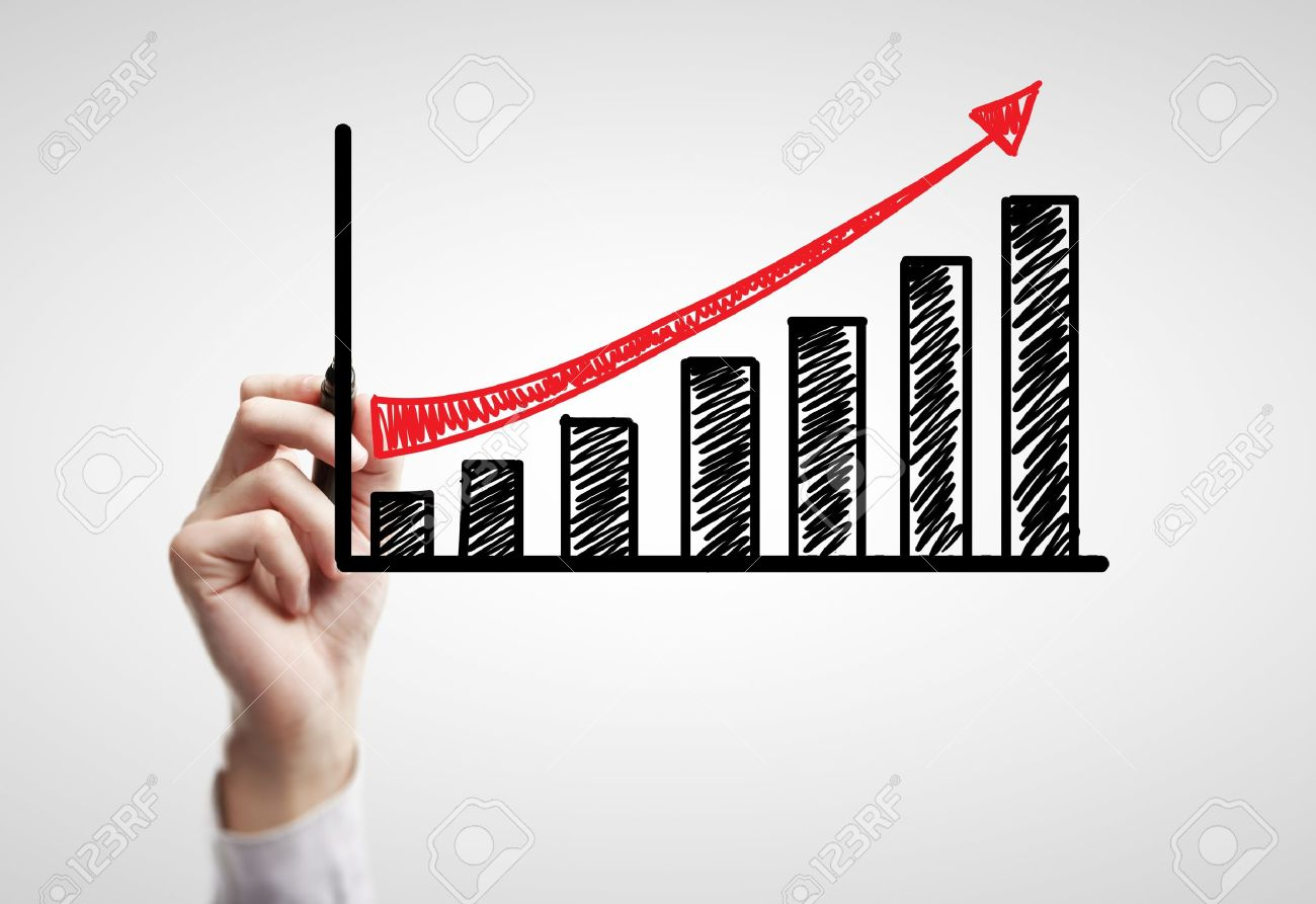 hand drawing schedule of business growth Stock Photo - 14923464