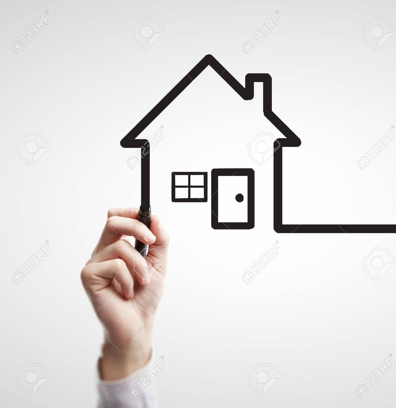 hand drawing abstract house on a white background Stock Photo - 14923287