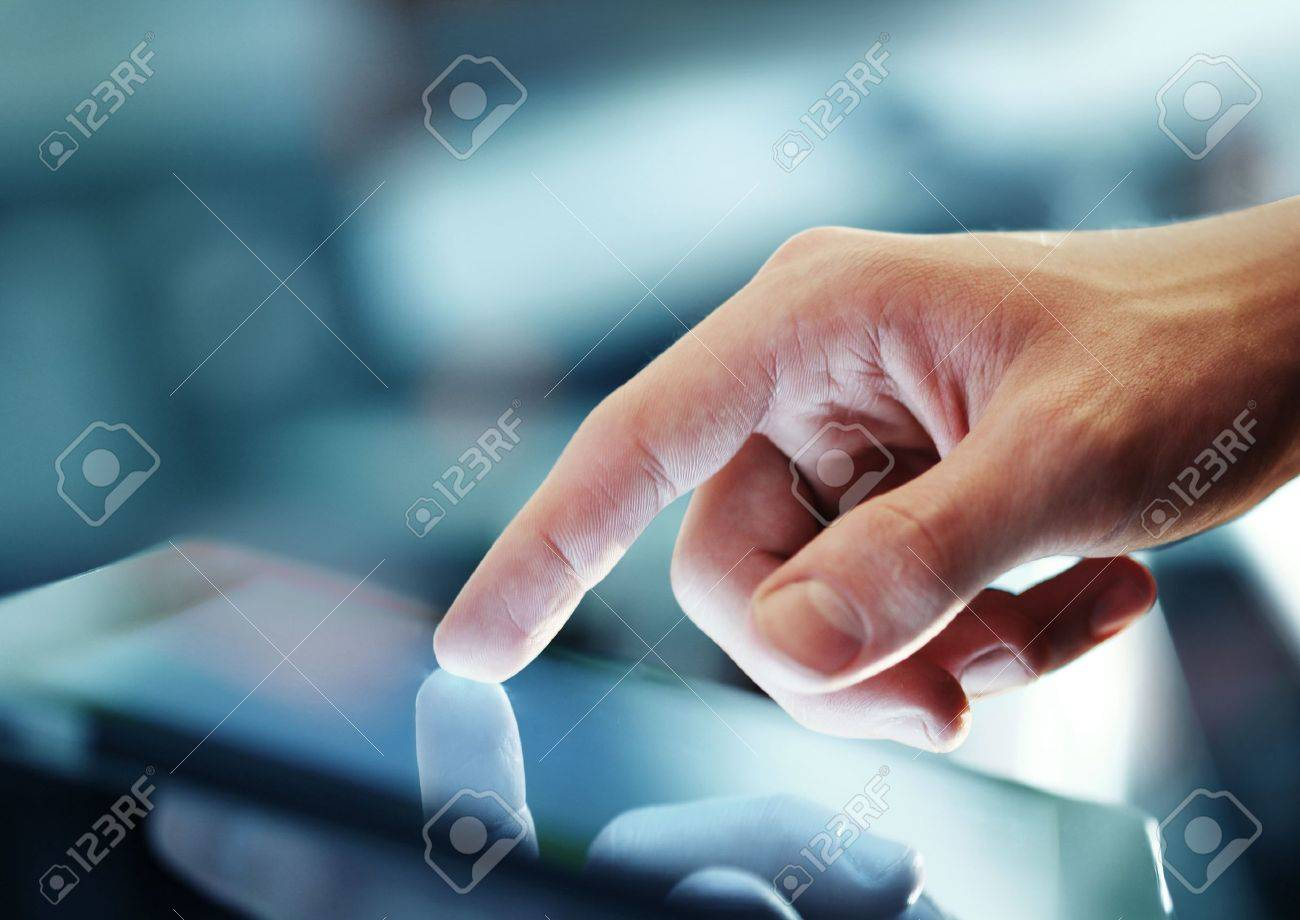 businessman holding digital tablet, closeup - 15788251