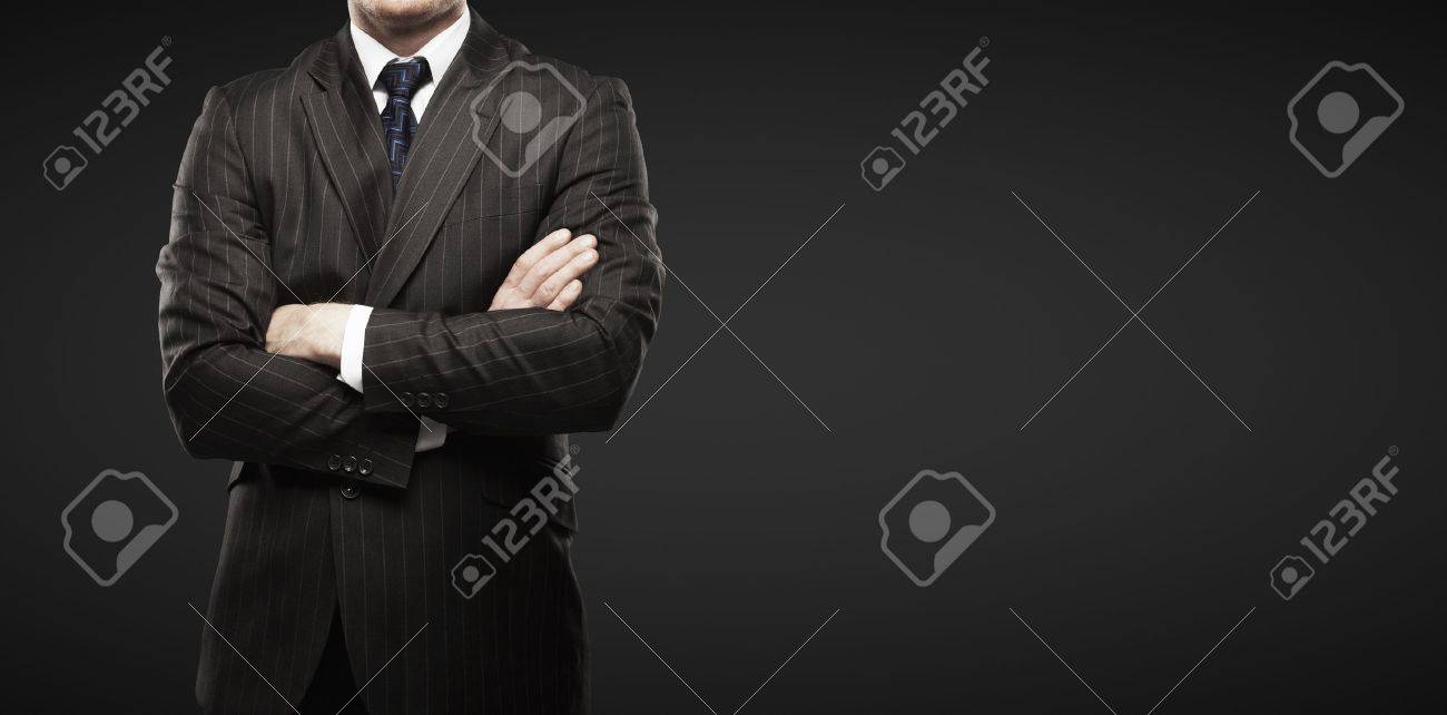man on a black background - 16032569