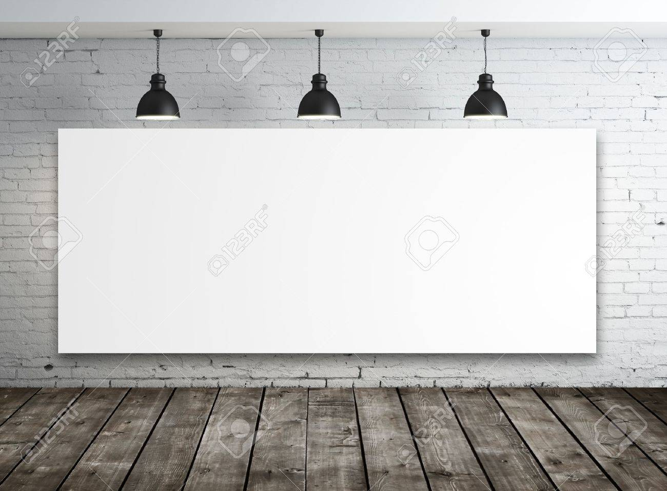 poster in room with ceiling lamp Stock Photo - 16032520