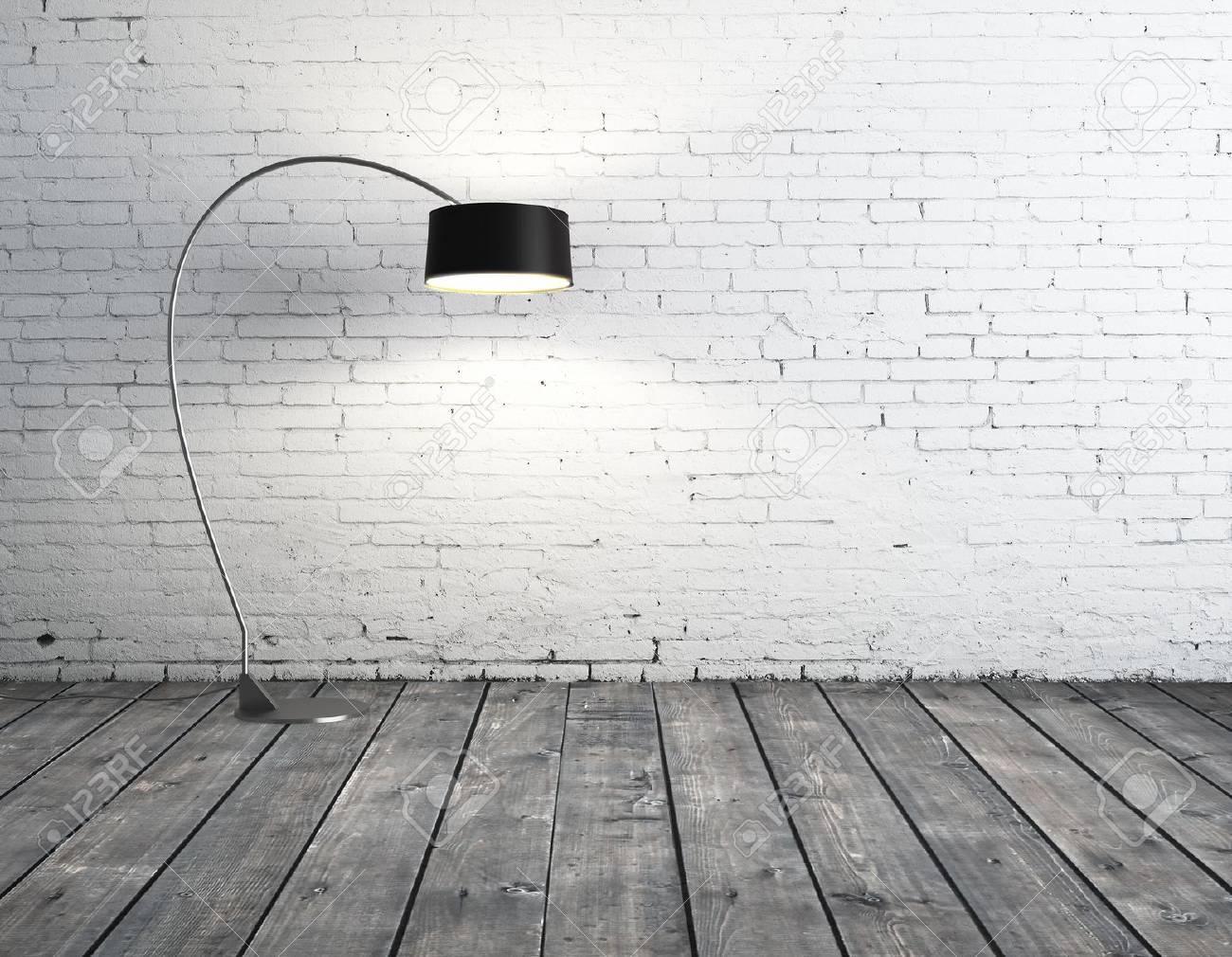 floor lamp in brick room Stock Photo - 16189121