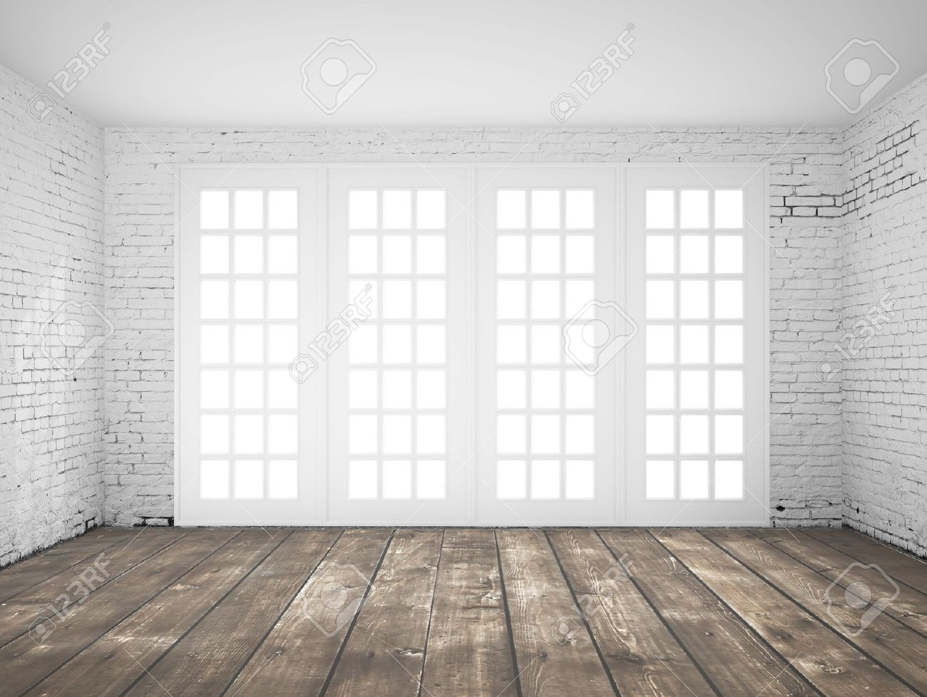 Awesome Empty Light White Interior With Window Stock Photo   16189103