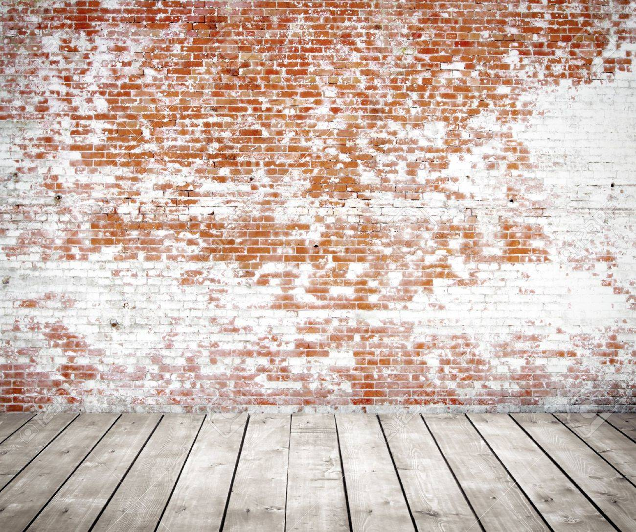 red brick wall and wood floor stock photo picture and royalty free
