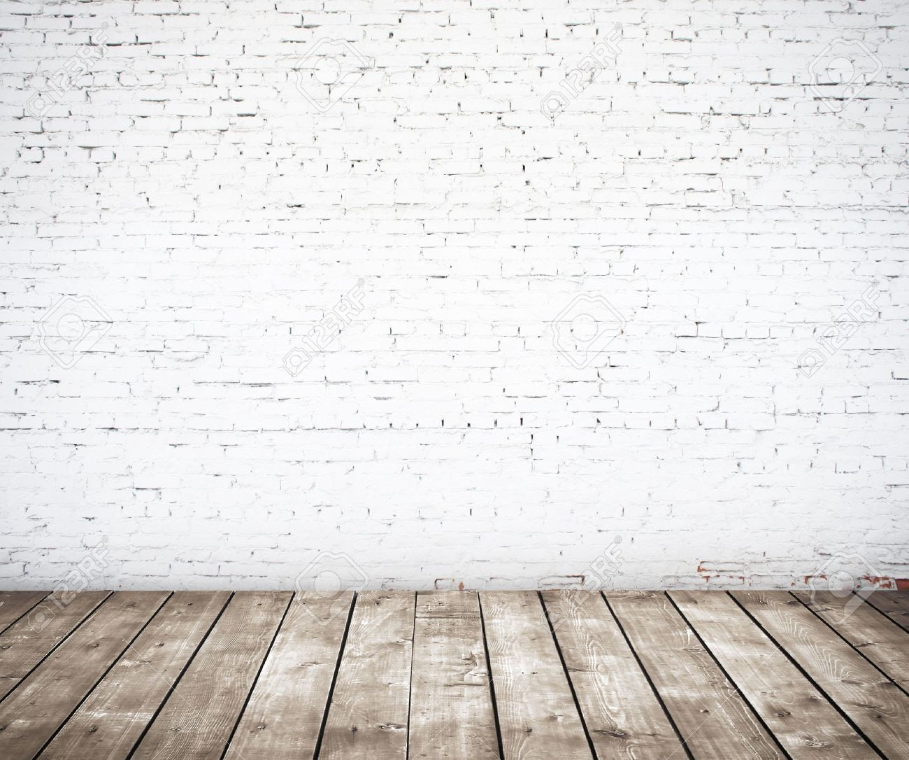 brick wall and wood floor stock photo picture and royalty free