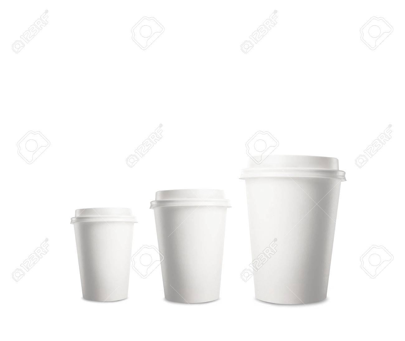 three paper cup of coffee Stock Photo - 16342584