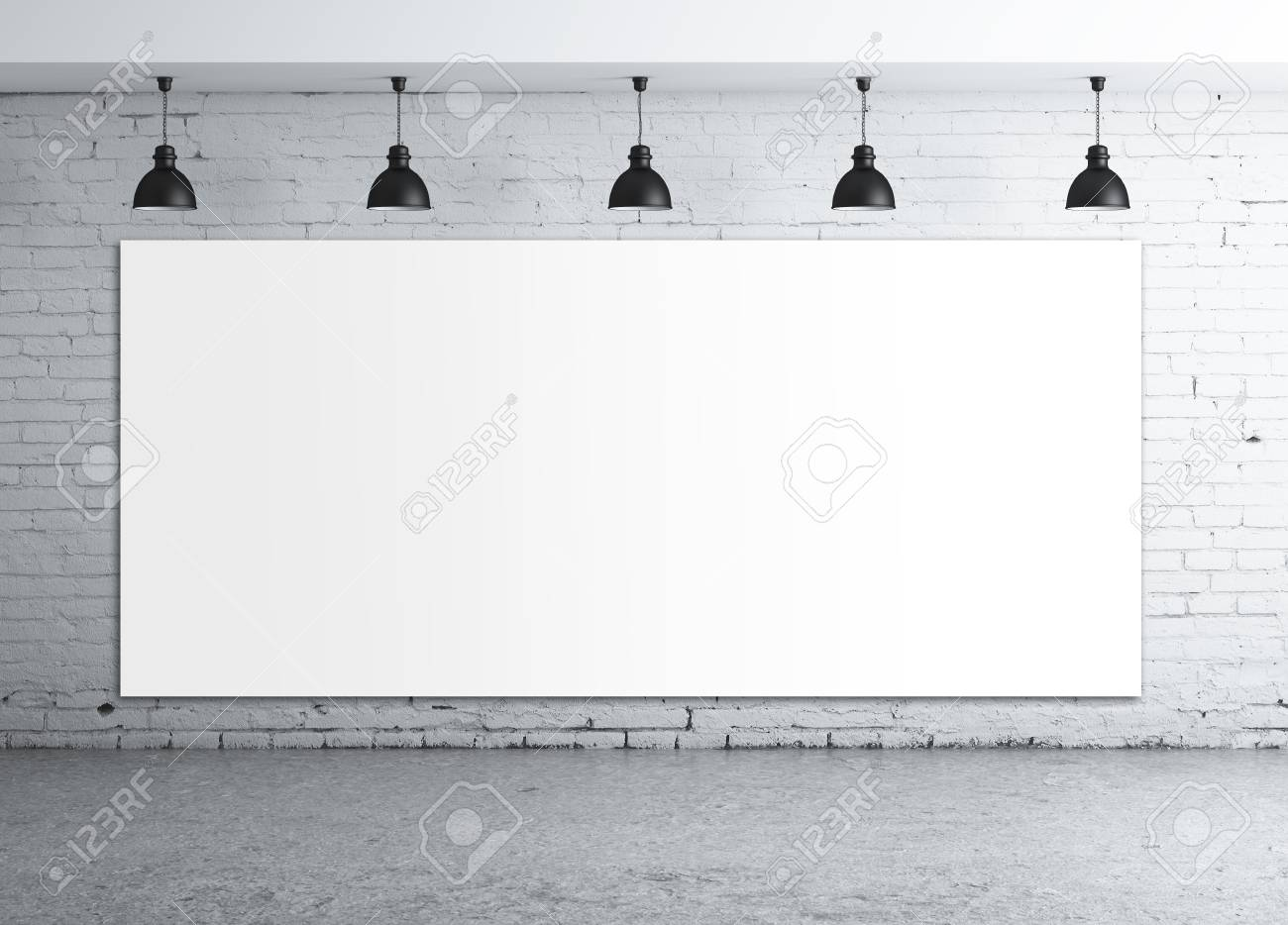 poster in room with ceiling lamp Stock Photo - 16343270