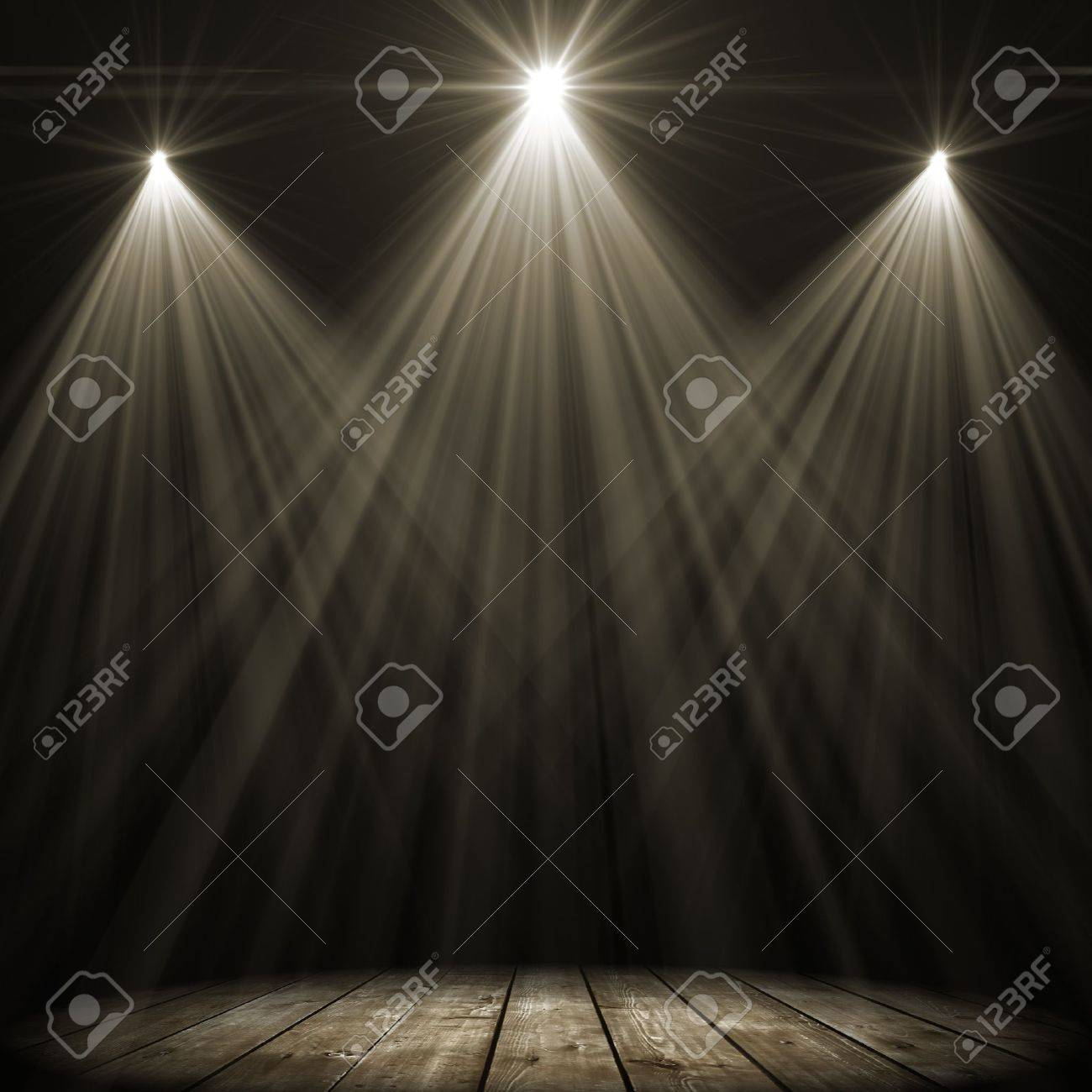 stock stage light photo spot dark three lighting over background picture