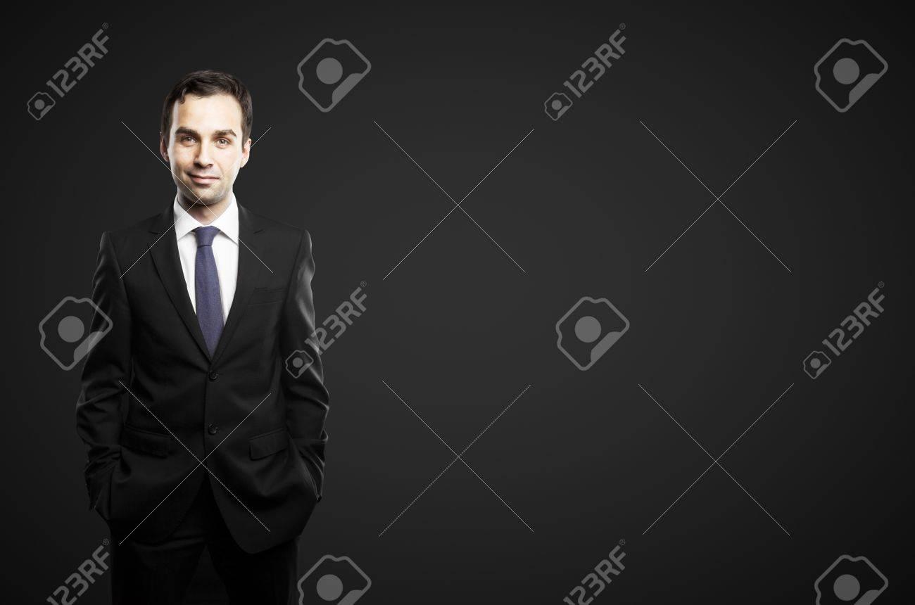 businessman on a black background Stock Photo - 16883199