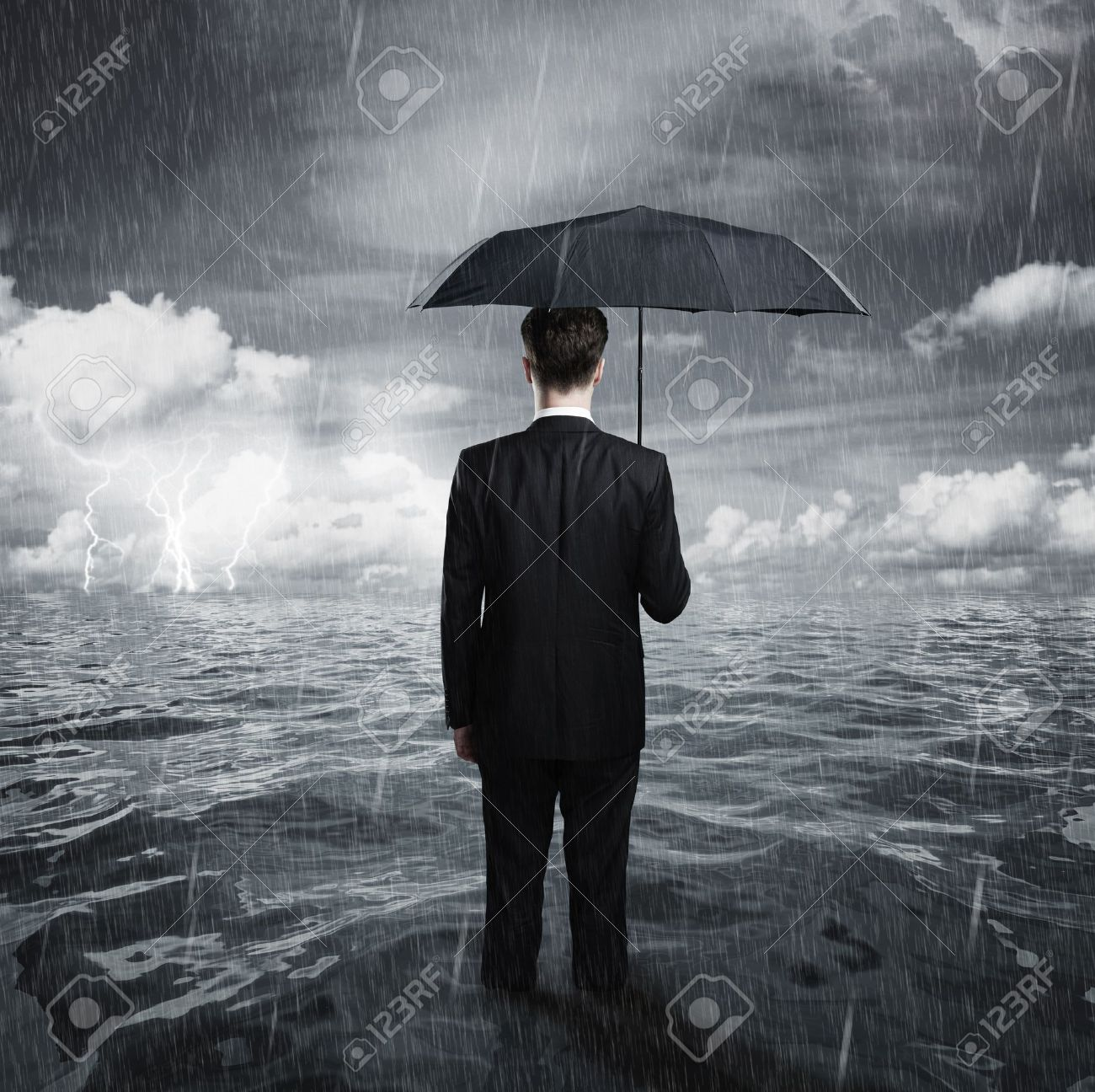 man with umbrella business concept stock photo picture and royalty