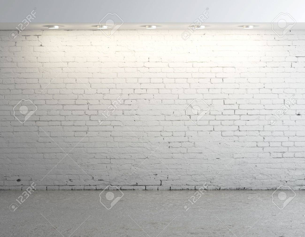 brick concrete room with ceiling lamp Stock Photo - 17414811