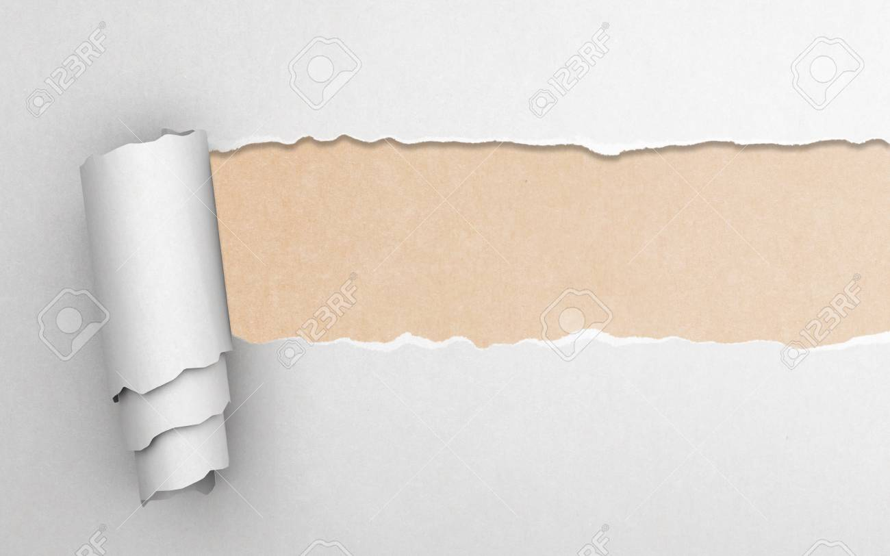 Torn paper with yellow background Stock Photo - 17883010