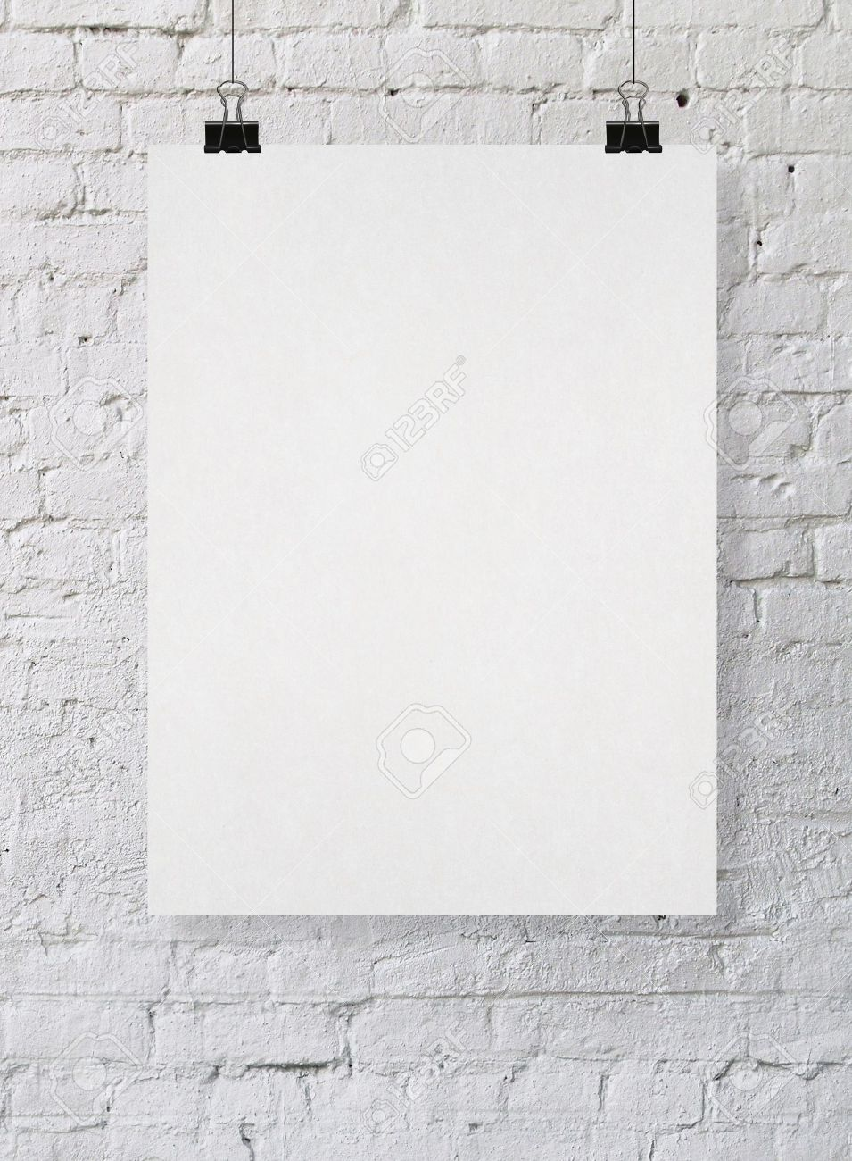 blank poster on a wall stock photo picture and royalty free image
