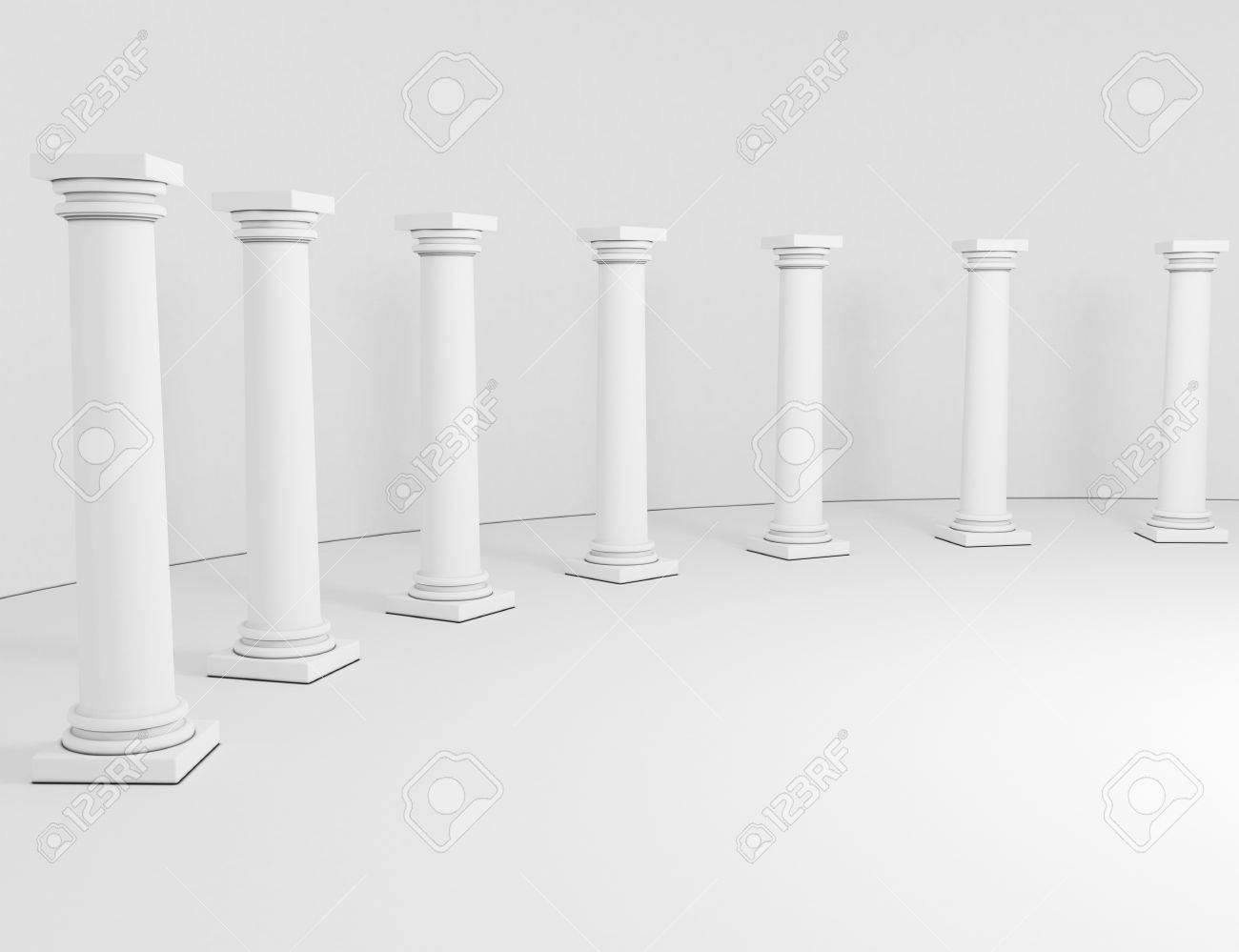 row columns on a white background Stock Photo - 18039569