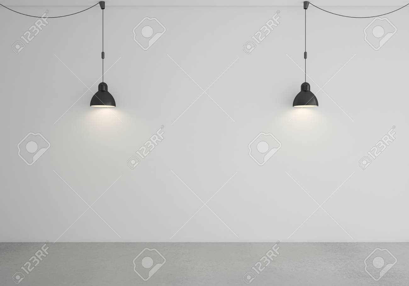 loft room with two ceiling lamps Stock Photo - 18187652