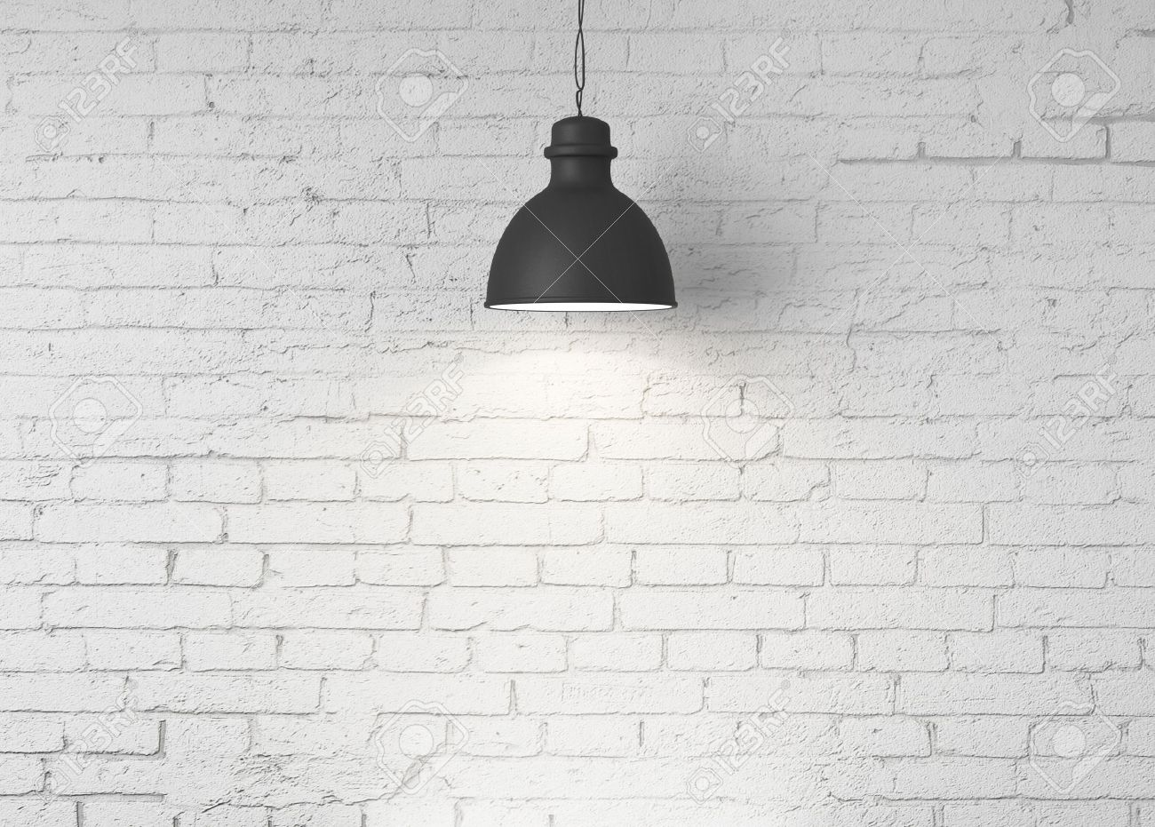Brick Wall And Ceiling Lamps Stock Photo Picture And Royalty Free Image Image 18243814