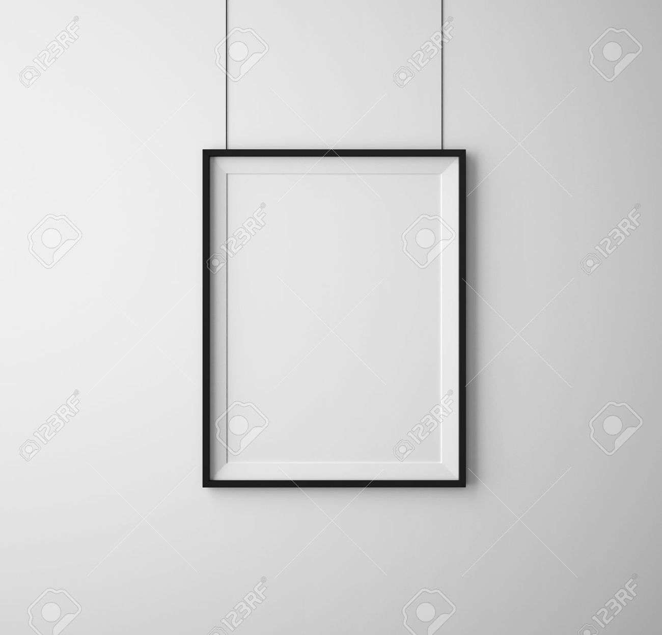 White Wall Frames black frames on white wall stock photo, picture and royalty free